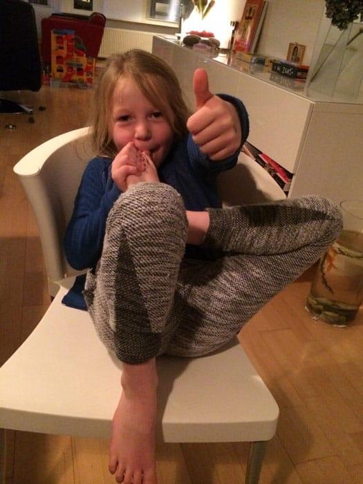 Lieve en haar plezier in yoga 3
