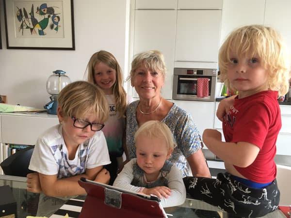Met de kleinkinderen