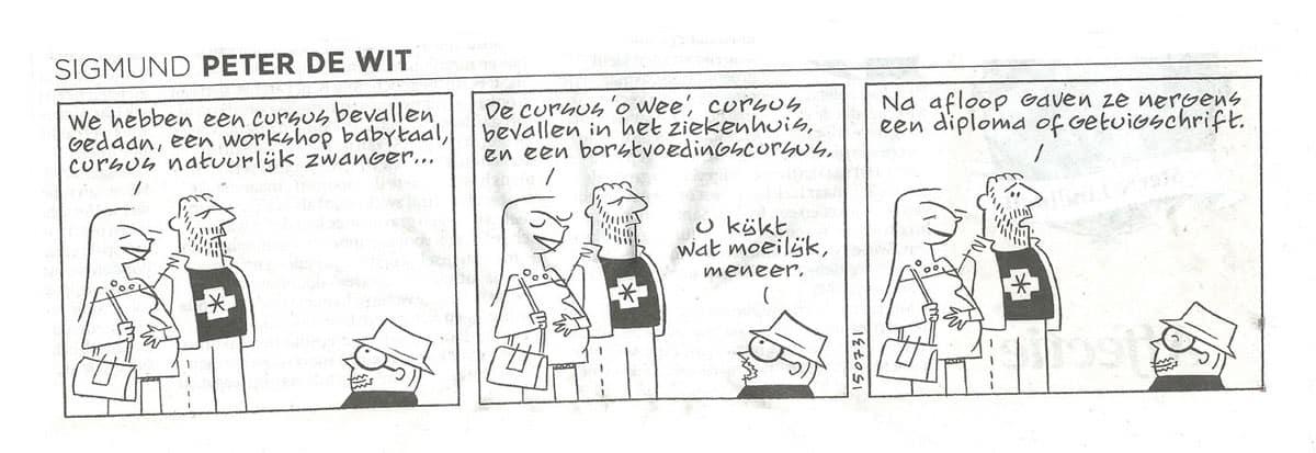 Zwangerschapsyoga Amsterdam Sigmund Cartoon Wil Yoga
